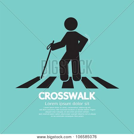 The Blind On The Crosswalk Symbol.