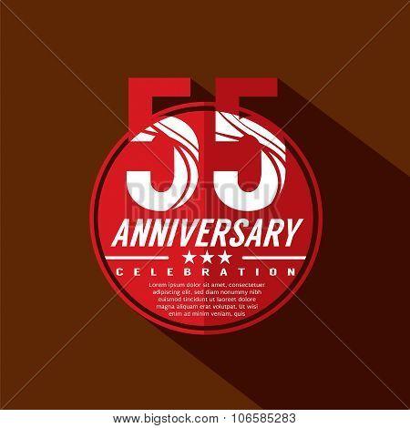 55 Years Anniversary Celebration Design.