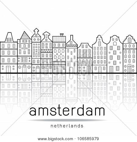 Amsterdam Houses Style Netherlands