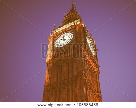 Retro Looking Big Ben In London