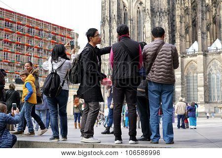 Tourists in Cologne