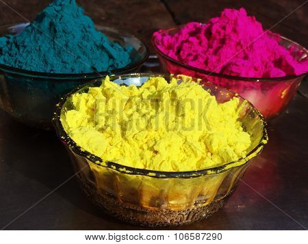 Colorful Gulal from Holi Festival India