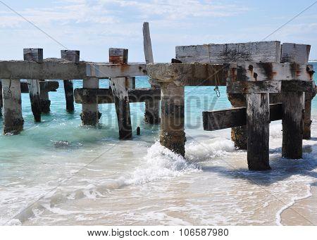 Abandoned Wooden Jetty in Jurien Bay
