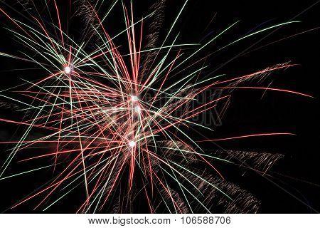 Firework, New Year, Celebrating Of New Year