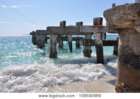 Abandoned Jetty: Standing Strong