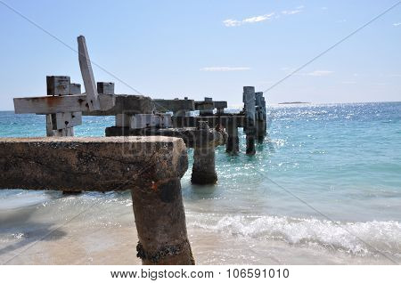 Abandoned Jetty: Indian Ocean, Western Australia