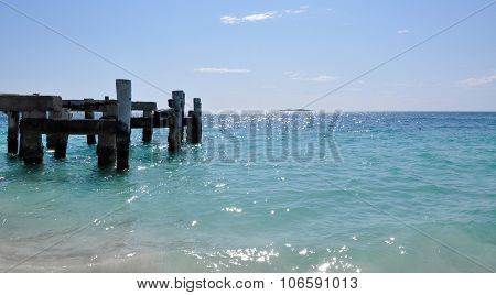 Abandoned Jetty: Turquoise Indian Ocean Landscape