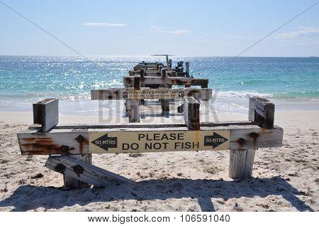 Abandoned Jetty Length Perspective: Jurien Bay, Western Australia