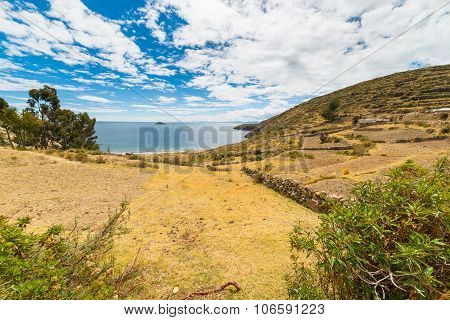 Landscape On Island Of The Sun, Titicaca Lake, Bolivia
