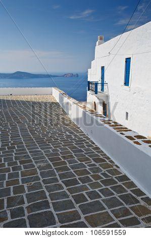 Plaka village, Milos island.