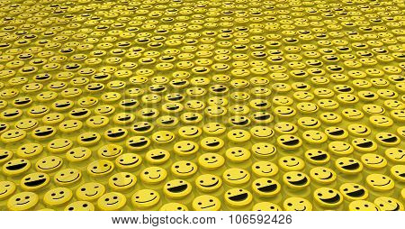 Happy Face Surface Background
