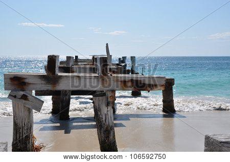 Jurien Bay Abandoned Jetty: Top Edge