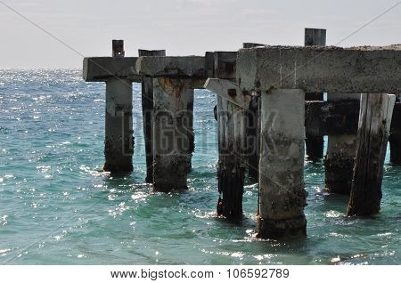 Jurien Bay Abandoned Jetty: Section
