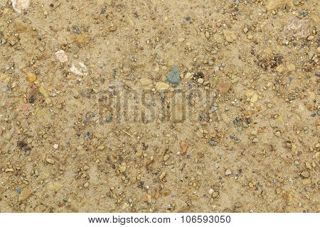 Sand And Dusty Path With Small Stones