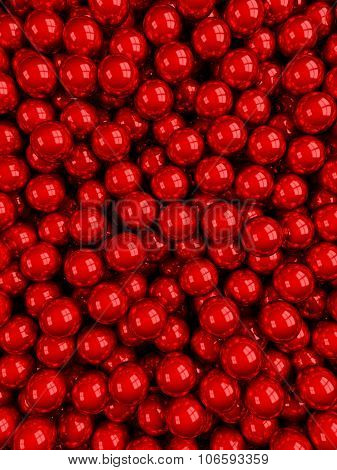 Balls Red Glossy Vertical