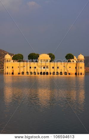 Jal Mahal And Man Sagar Lake In Jaipur, Rajasthan, India.