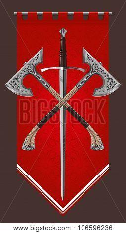 crossed swordand axe