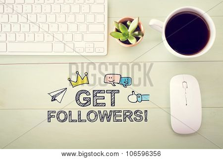 Get Followers Concept With Workstation