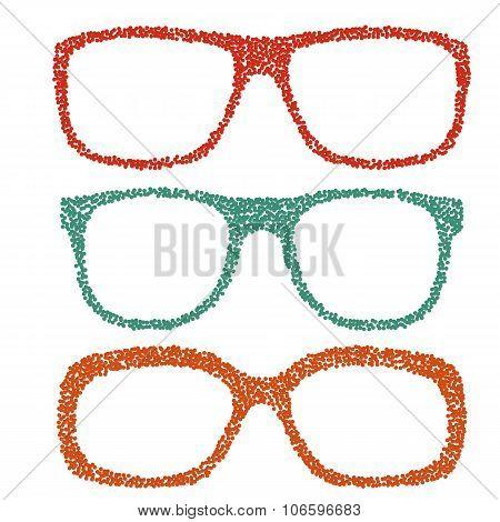 Dotted eyeglasses set