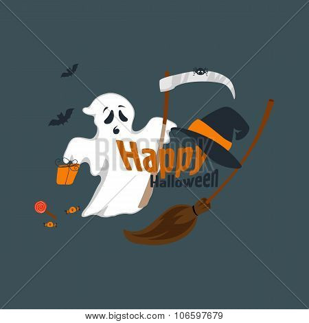 Fun for Halloween flat design vector illustration.