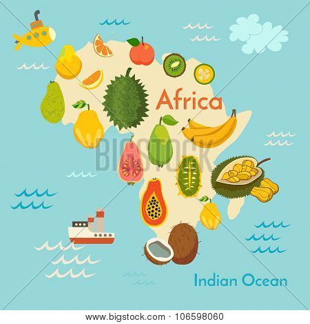 Fruit world map Africa
