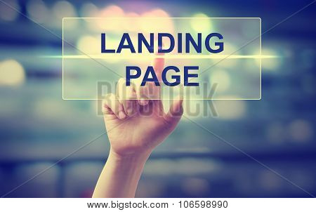 Hand Pressing Landing Page