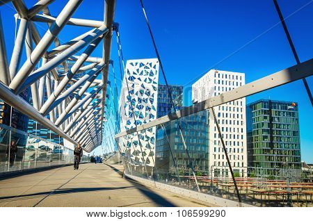 Modern business architecture in Oslo, Norway