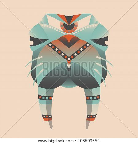 The abstract head of walrus vector illustration