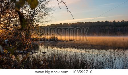 Early October morning on the Lake in Chalk River.