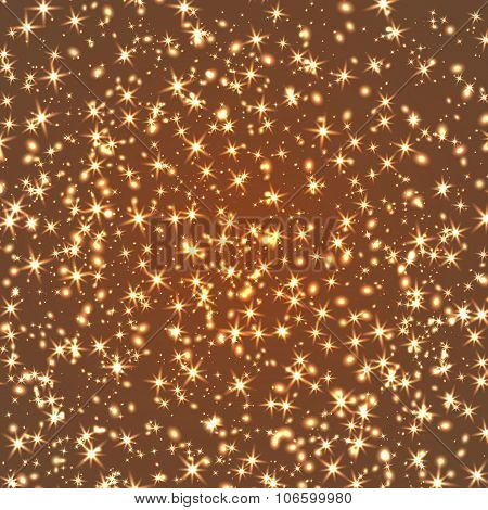 Twinkling Stars And Lights Texture