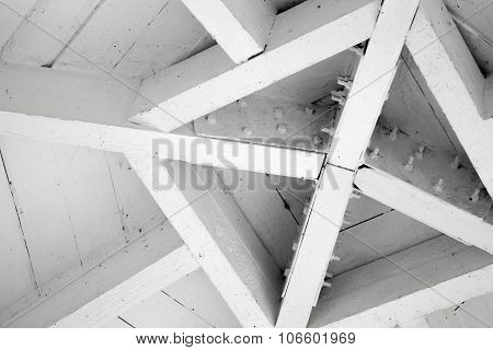 Abstract Wooden Architecture Fragment, Roof Center