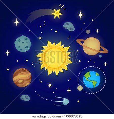 Space Doodle Illustration
