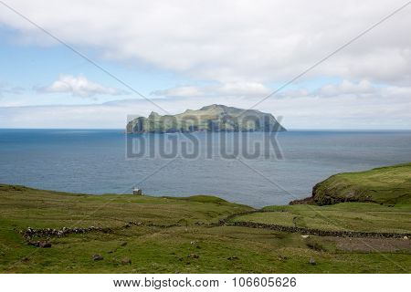 The Island Mykines On The Faroe Islands