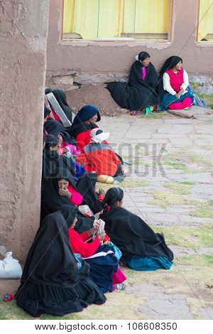 The Traditional Community Of Taquile, Titicaca Lake, Peru