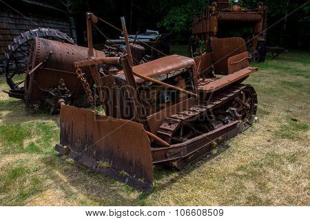 Old tractor in the US