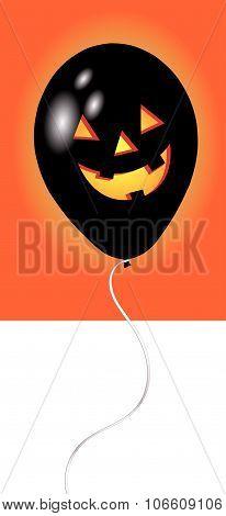 Spooky Balloon In Black