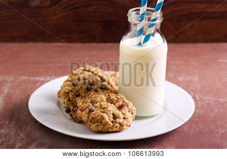 Oat, Sultana And Chocolate Chip Cookies