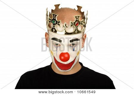 Angry man clown