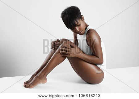 Pretty Black Woman In A White Space