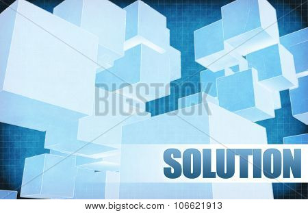Solution on Futuristic Abstract for Presentation Slide