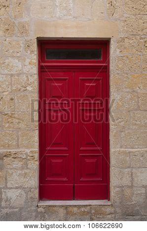 Fantastic Ancient Wooden Door Red