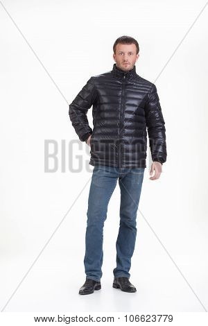 Young Man In Winter Clothing