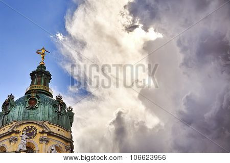 Hdr Detail Shot Of Schloss Charlottenburg Berlin With Dramatic Sky
