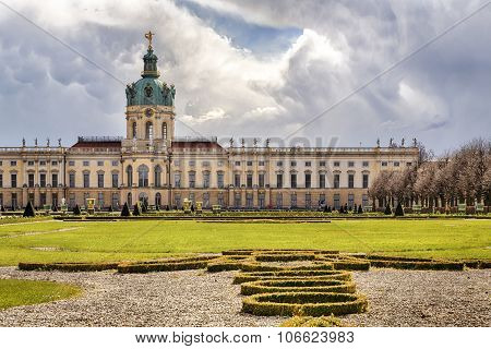 Hdr Shot Of Schloss Charlottenburg Berlin With Dramatic Sky