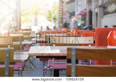 Outdoor Restaurant Tables In Berlin Kreuzberg