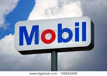 Mobil Oil Gas Station Sign