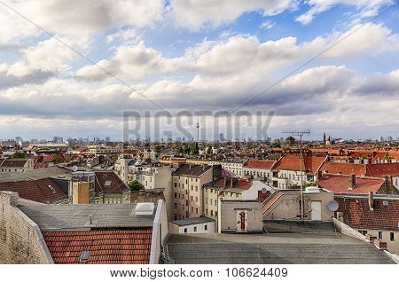 Hdr Panorama Of Berlin With Cloudscape