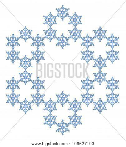 Snowflake. Flake of snow