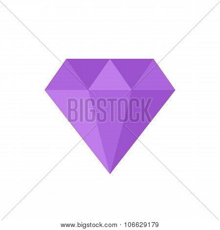 Diamond icon, modern minimal flat design style, vector illustration