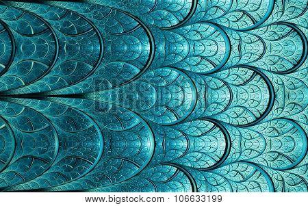 Cyan-blue Pattern